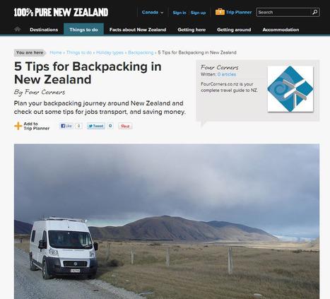 Inspiration : nouvelle version expérientielle du site de la Nouvelle-Zélande   eTourism Trends and News   Scoop.it