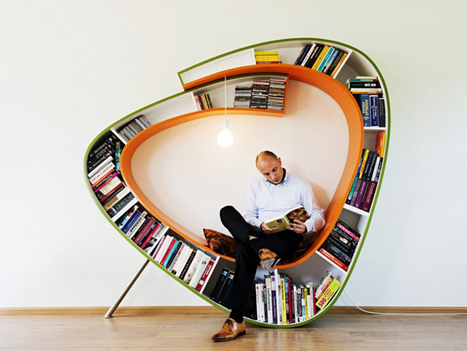 Bookworm Bookcase - Sit and Relax Surrounding by Your Favorite Books | Harmony Design, Art, and Science | Scoop.it