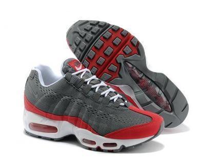 Acquista Economico Nike Air Max 95 EM Uomini Lupo Grigio Rosso Bianco 554971-011 Scarpe Online | fashion | Scoop.it