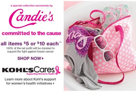 Candie's support to fight against breast cancer | Kohls department store news | Scoop.it