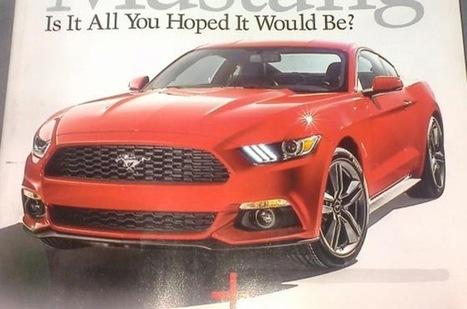 Ford Mustang MY 2015, prime immagini leaked pubblicate sul Web - Motorionline | Ford Roma | Scoop.it
