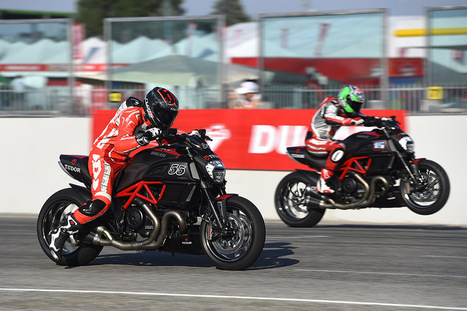 Ducati riders thrill the WDW2014 public with the Drag Race by Tudor | Motorcycle Industry News | Scoop.it