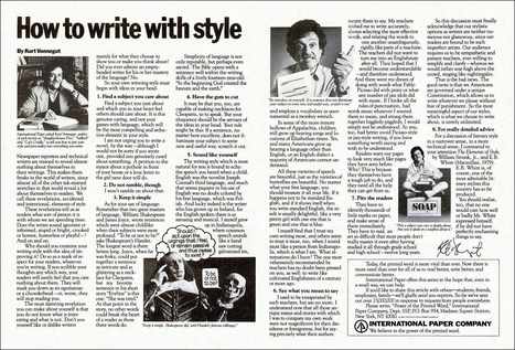 All sizes | Writing Tips from Kurt Vonnegut, 1980 | Flickr - Photo Sharing! | The Rambling Epicure | Scoop.it