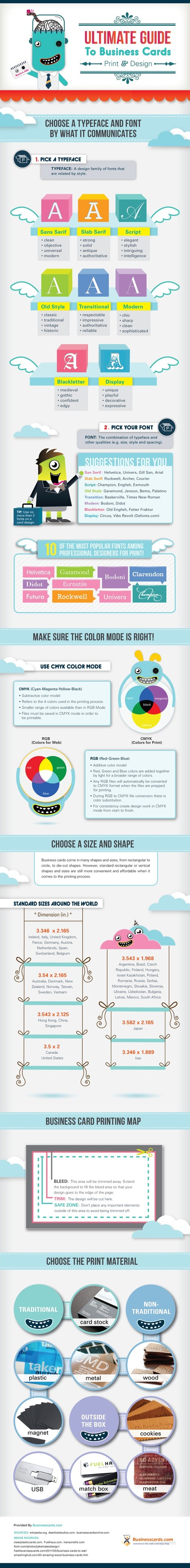 Cool Infographics - Blog - Ultimate Guide to Business Cards | color for branding | Scoop.it