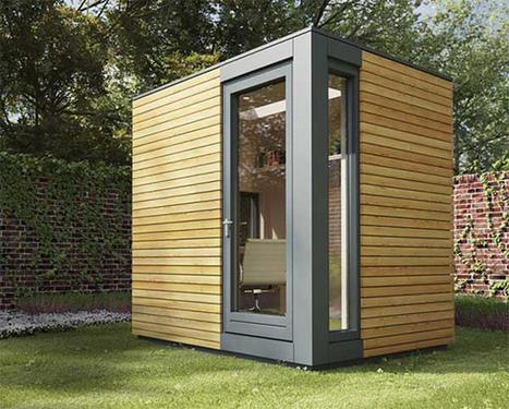 在自家後院可以辦公的Micro Pod花園工作室 | 建築 | Scoop.it