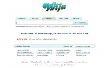 Wiju, un buscador de empleo avanzado para España y Latinoamérica [Scoopit @josem2112] | A New Society, a new education! | Scoop.it