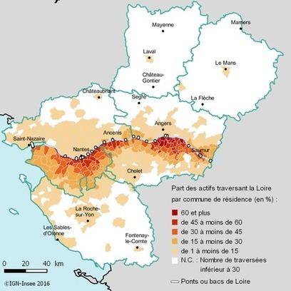 Insee > Dans les Pays de la Loire, un actif sur dix traverse la Loire pour se rendre au travail | Observer les Pays de la Loire | Scoop.it