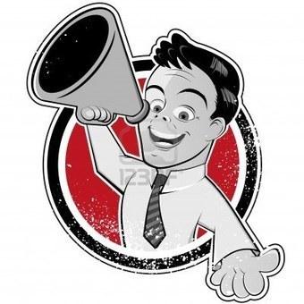 11301388-hombre-megafono-vendimia.jpg (400x400 pixels) | Agencia de Publicidad | Scoop.it