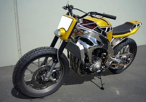 Yamaha R1 street tracker by Greggs's Customs | Vintage Motorbikes | Scoop.it