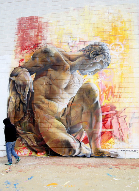 #Murals of #Greek #Gods Rendered Against a Chaotic Backdrop of #Graffiti by Pichi & Avo #streetart #art | Luby Art | Scoop.it