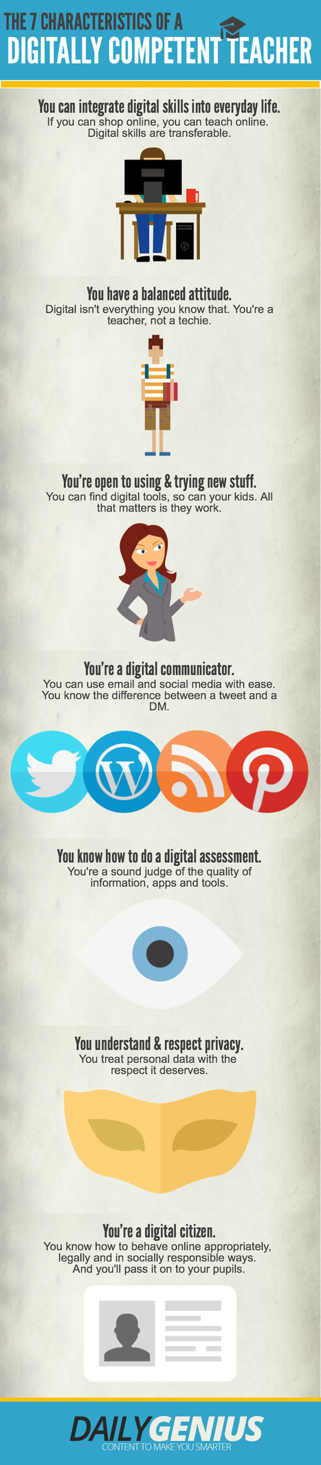 The Characteristics of a Digitally Competent Teacher Infographic | e-Learning Infographics | Jewish Education Around the World | Scoop.it
