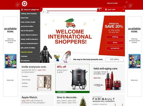 Target déploie son site e-commerce dans plus de 200 pays à travers le monde | e-commerce  - vers le shopping web 3.0 | Scoop.it