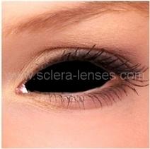 Black Sclera Contact Lenses (1 pair) | Sclera Lenses | Scoop.it