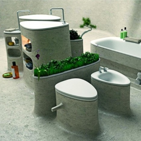 Eco-Friendly Bathroom Design Of Endless Concrete | DigsDigs | Le béton créatif et poétique | Scoop.it