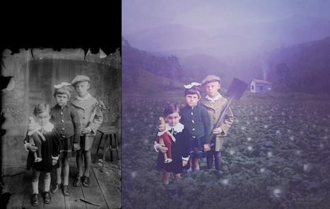Des persos de photos anciennes extraits dans des scènes étranges | Ca m'interpelle... | Scoop.it
