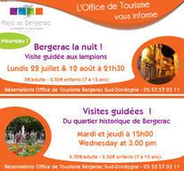 Nouveau ! Les visites guidées de l'Office de tourisme Bergerac Sud-Dordogne - Le site des Professionnels du Tourisme en Pays de Bergerac | Actu Réseau MOPA | Scoop.it