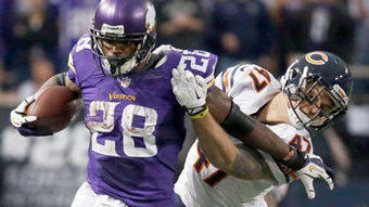 Peterson wears down Bears' defense - Chicago Tribune | J585 Team Calvert | Scoop.it