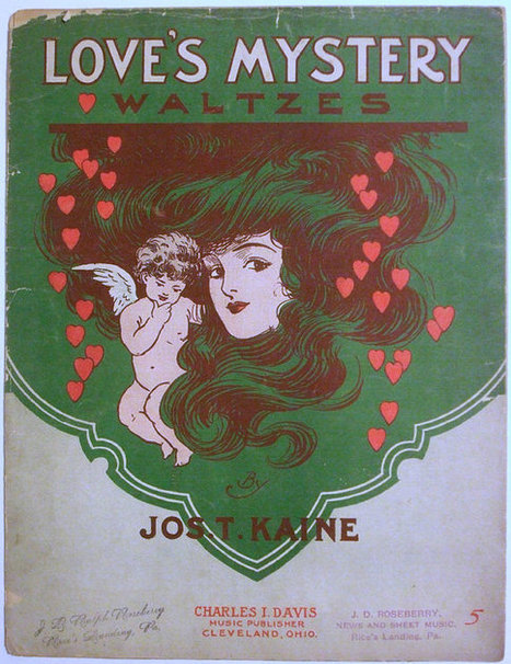 """Antique Sheet Music """"Love's Mystery"""" Waltzes by Jos. T. Kane 