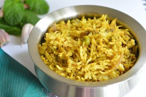 Mint Biryani With Garden Peas [Vegan, Gluten-Free] | My Vegan recipes | Scoop.it