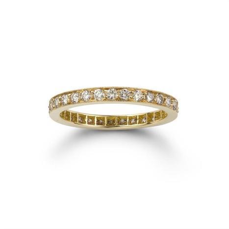 A brilliant-cut pink diamond full eternity ring - Bentley & Skinner | Bentley And Skinner | Scoop.it