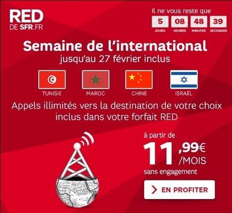 Semaine de l'international sur RED! | Programme Affiliation SFR | Scoop.it