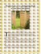 Wooden Gates for a Distinguished Look of Your House   Garden Gates   Scoop.it
