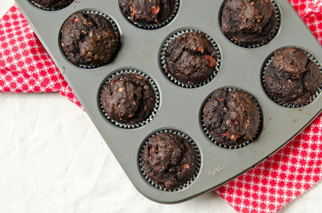 Vegan Double Chocolate Strawberry Muffins | Recipes | Scoop.it