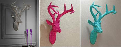 Calaveras y cabezas de ciervos brillantes para un toque rebelde pero con glamour.   Mil ideas de Decoración   Accesorios decoración   Scoop.it