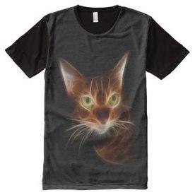 Cat All Over Print Shirts - Flamin Cat Designs   Flamin Cat Designs At Zazzle   Scoop.it