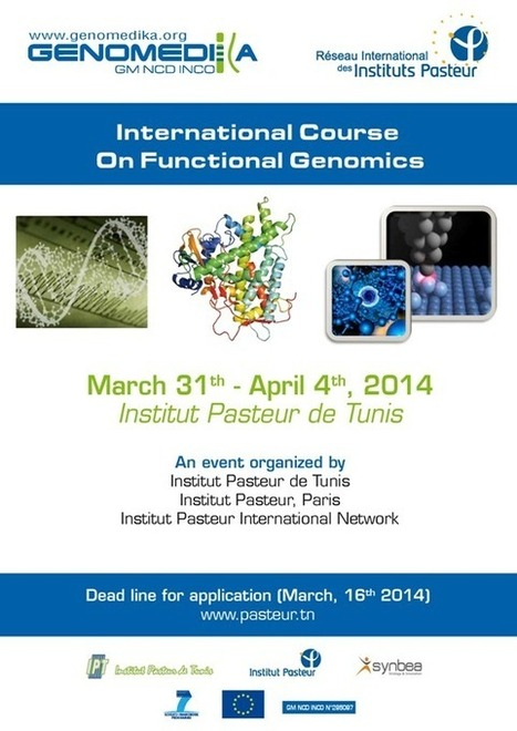 "Appel à candidatures : Cours international de ""Génomique Fonctionnelle"" (31 mars-4 avril 2014) 