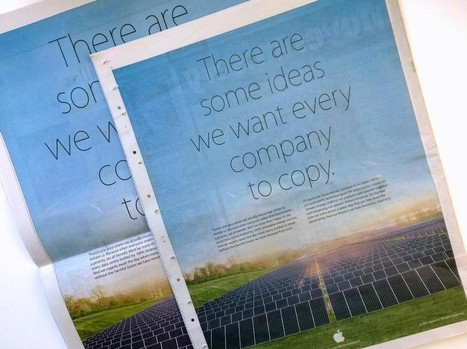 Apple Takes Jab at Samsung in Full Page Earth Day Newspaper Ad | Apple News - From competitors to owners | Scoop.it