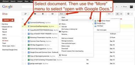 Free Technology for Teachers: How to Open and Edit Word Files in Google Drive | Education Technology - theory & practice | Scoop.it