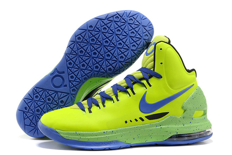 Menˊs Kevin Durant V Nike ID Shoes Volt/Blue - Black Sports Shoes Brand New | new and share style | Scoop.it
