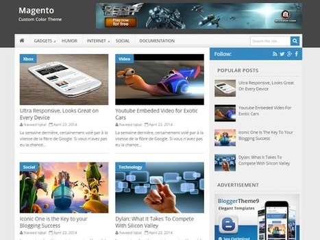 BTemplates: Magento Blogger Template | Blogger themes | Scoop.it