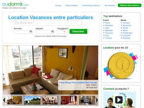 OuDormir.com, site de location saisonnière | L'ère de la consommation collaborative | Scoop.it