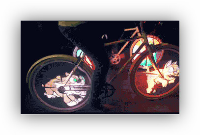 World's coolest bike lights turn your wheels into lightning, flames, or cartoon animals | Machinimania | Scoop.it