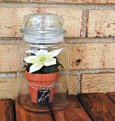 Faux Terrarium in a Yankee Candle Jar   My Hometown   Scoop.it