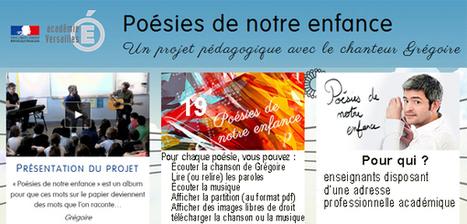 Poésies de notre enfance – Un projet pédagogique avec le chanteur Grégoire | | Français Langue étrangère | Scoop.it