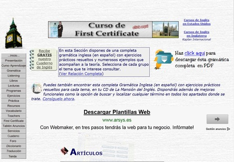 Gramatica inglesa gratis, ejercicios de ingles gratuitos | Maria del Carmen | Scoop.it