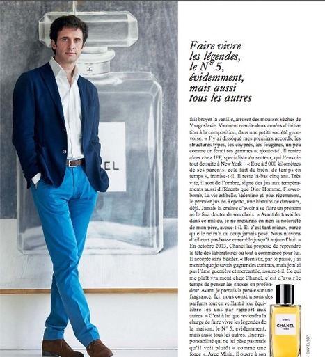L'Express Styles, Olivier Polge, l'Excellence en héritage | Perfume and fragrances Trends | Scoop.it