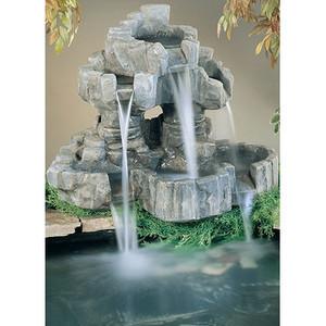 Henri Studio Nature Cast Stone Rock Falls Pond Ornament Fountain | outdoor fountains | Scoop.it