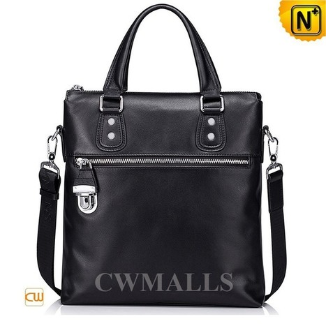 CWMALLS® Mens Black Leather Tote Bag CW906051   Mens Business Bags   Scoop.it