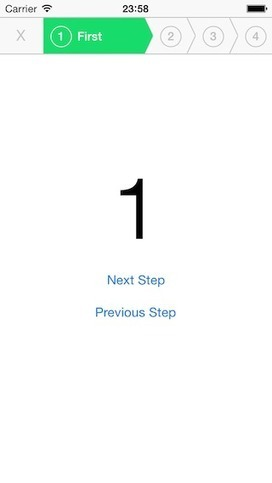 RMStepsController - This is an iOS control for guiding users through a process step-by-step | iPhone and iPad development | Scoop.it