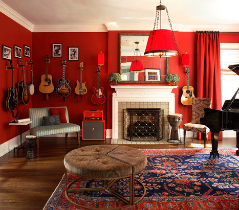 What Goes With Red Walls? | Designing Interiors | Scoop.it