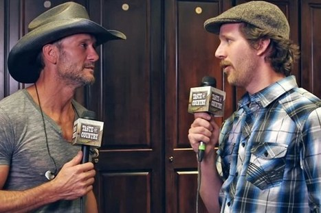 Tim McGraw Fangirls Over Tracy Lawrence Backstage at 2015 Taste of Country Festival | Country Music Today | Scoop.it
