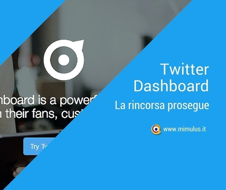 Come funziona Twitter Dashboard | Digital Friday by Mimulus | Scoop.it