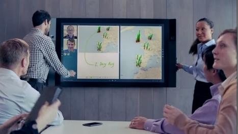 Cet écran va révolutionner les réunions de travail - BFMTV.COM | Formations & Web | Scoop.it