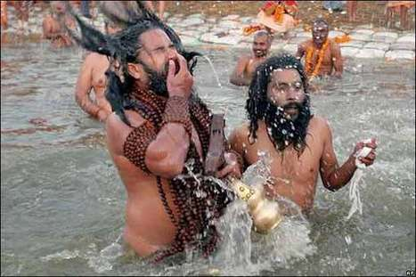 BBC News | In pictures: Hindus take dip at holy festival, Bathing | Religion in the world | Scoop.it