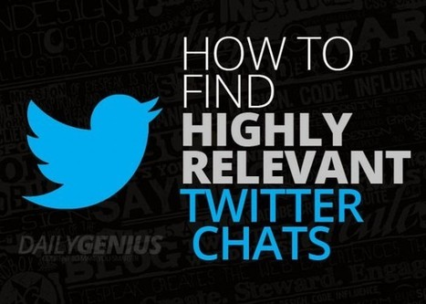 How to find highly relevant Twitter chats - Daily Genius | Social Media Power | Scoop.it