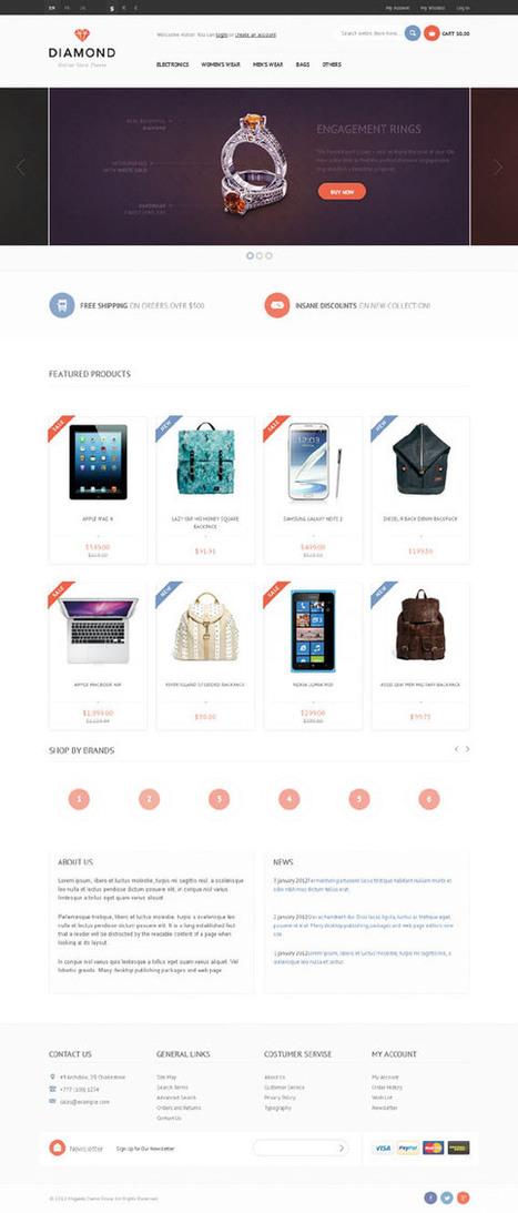 Diamond, Magento Jewelry Electronics Shop Theme | Premium Download | Premium Magento Themes | Scoop.it